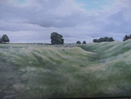 Avebury 1, 18x24 oil on canvas