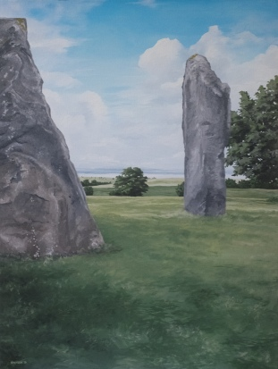 Avebury Monoliths (2018) 40x30 oil on canvas $750