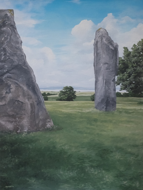 Avebury Monoliths (2018) 40x30 oil on canvas NFS