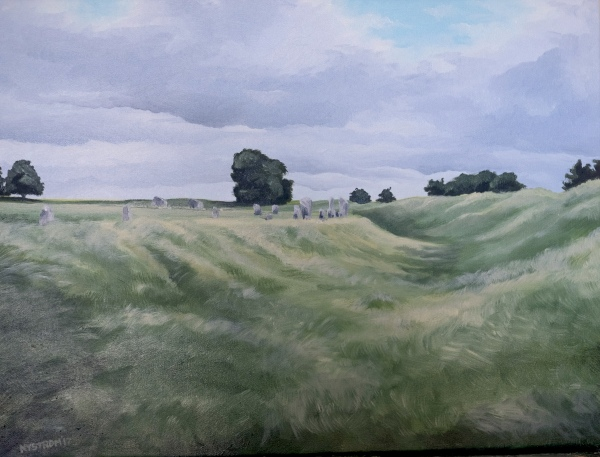 Avebury 1 (2017) 18x24 oil on canvas $525