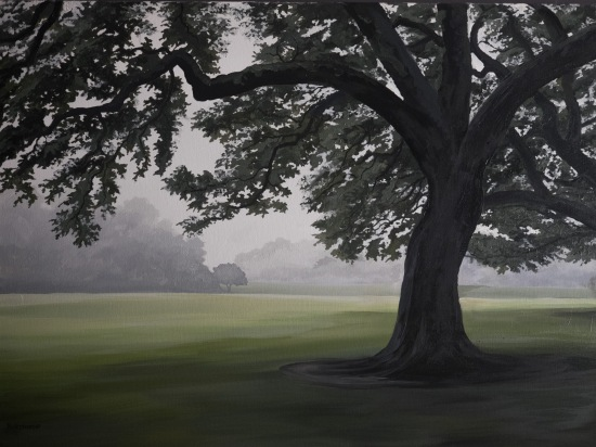 Oaks of St. Joseph 2 (2018) 30x40 oil on canvas $850