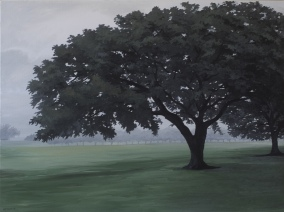 Oaks of St. Joseph 1 (2017) 30x40 oil on canvas $850