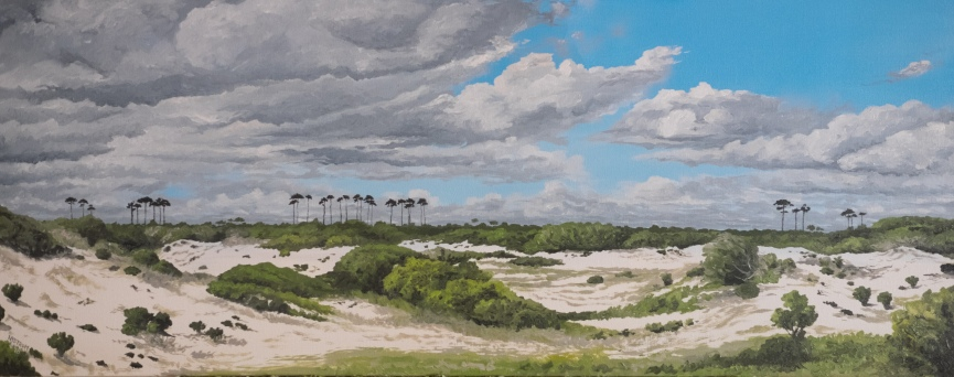 Gulf Dunes (2018) Orange Beach. 16x40 oil on canvas $575