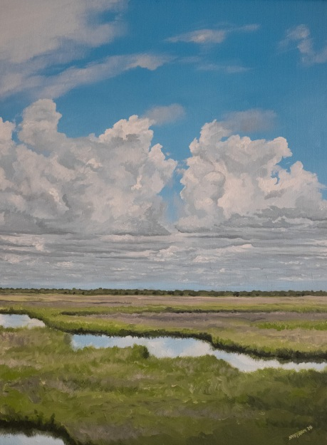 Louisiana Marsh (2018) 18x24 oil on canvas (sold)